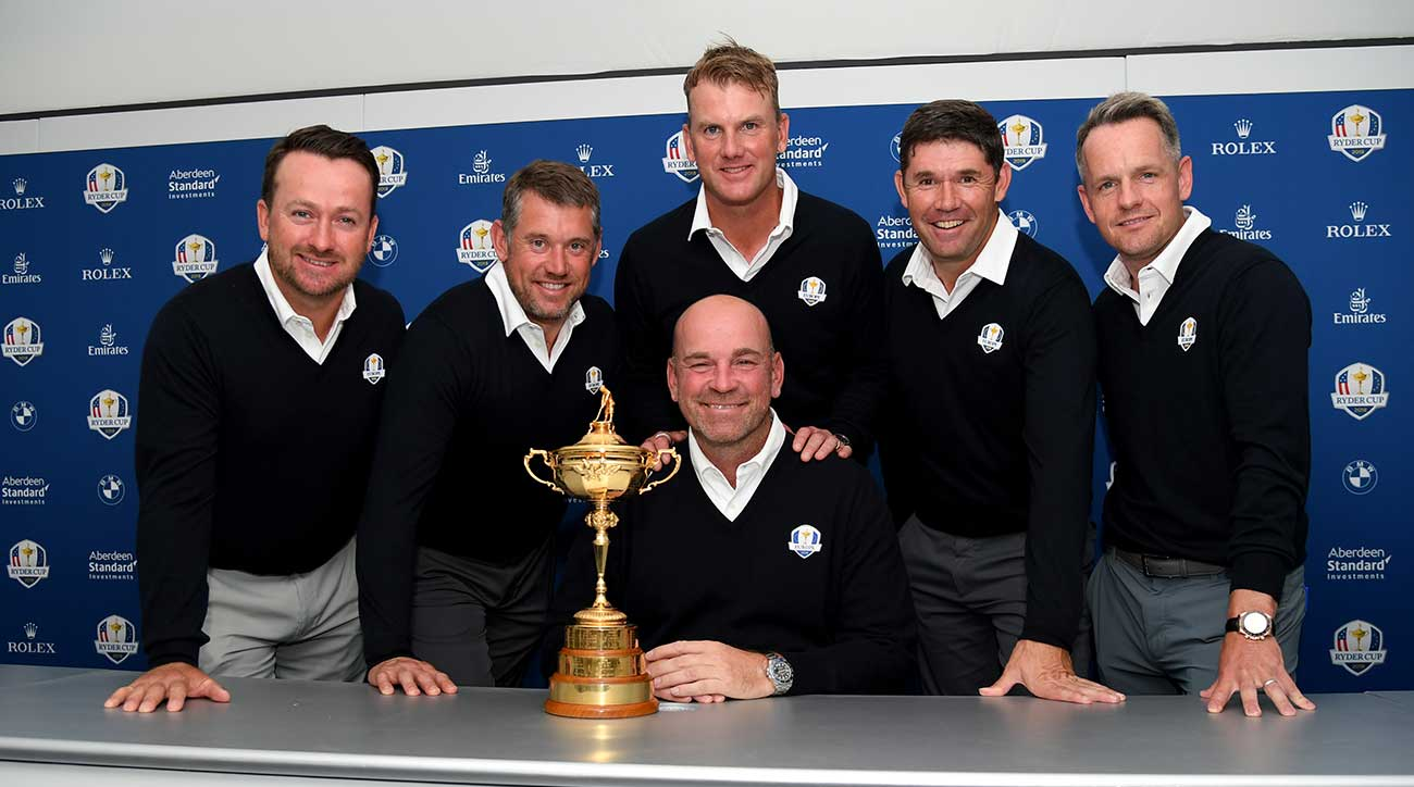 Bjorn names Donald, Harrington, McDowell, Westwood vice-captains