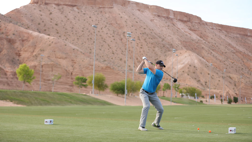 Will Hogue is a full-time firefighter when he's not competing in Long Drive events.