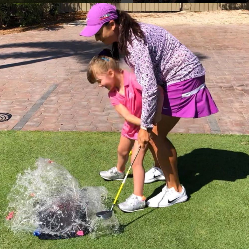 When in doubt: replace a golf ball with a water balloon.
