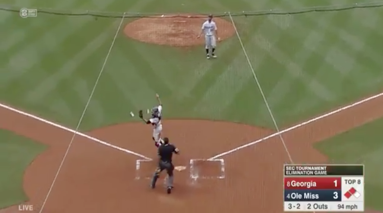 Baseball blooper by Ole Miss in SEC tournament (video)