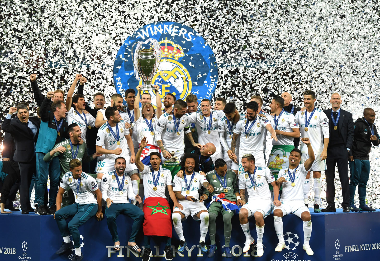 Real Madrid wins the 2017-2018 Champions League title