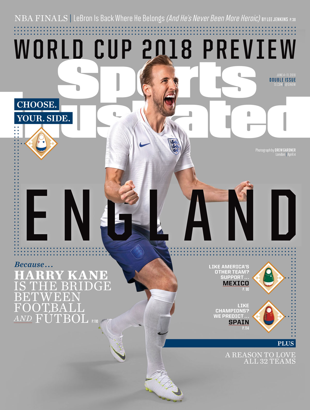 Harry Kane takes on England at the 2018 World Cup