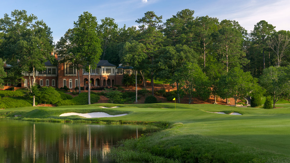 The majestic 18th hole at Shoal Creek.