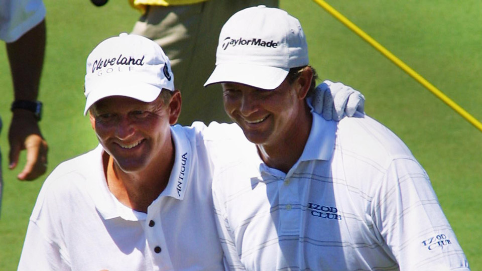Under the USGA's new U.S. Open playoff rules, things would have ended differently for Mark Brooks (left) who lost an 18-hole playoff to Retief Goosen at Southern Hills in 2001.