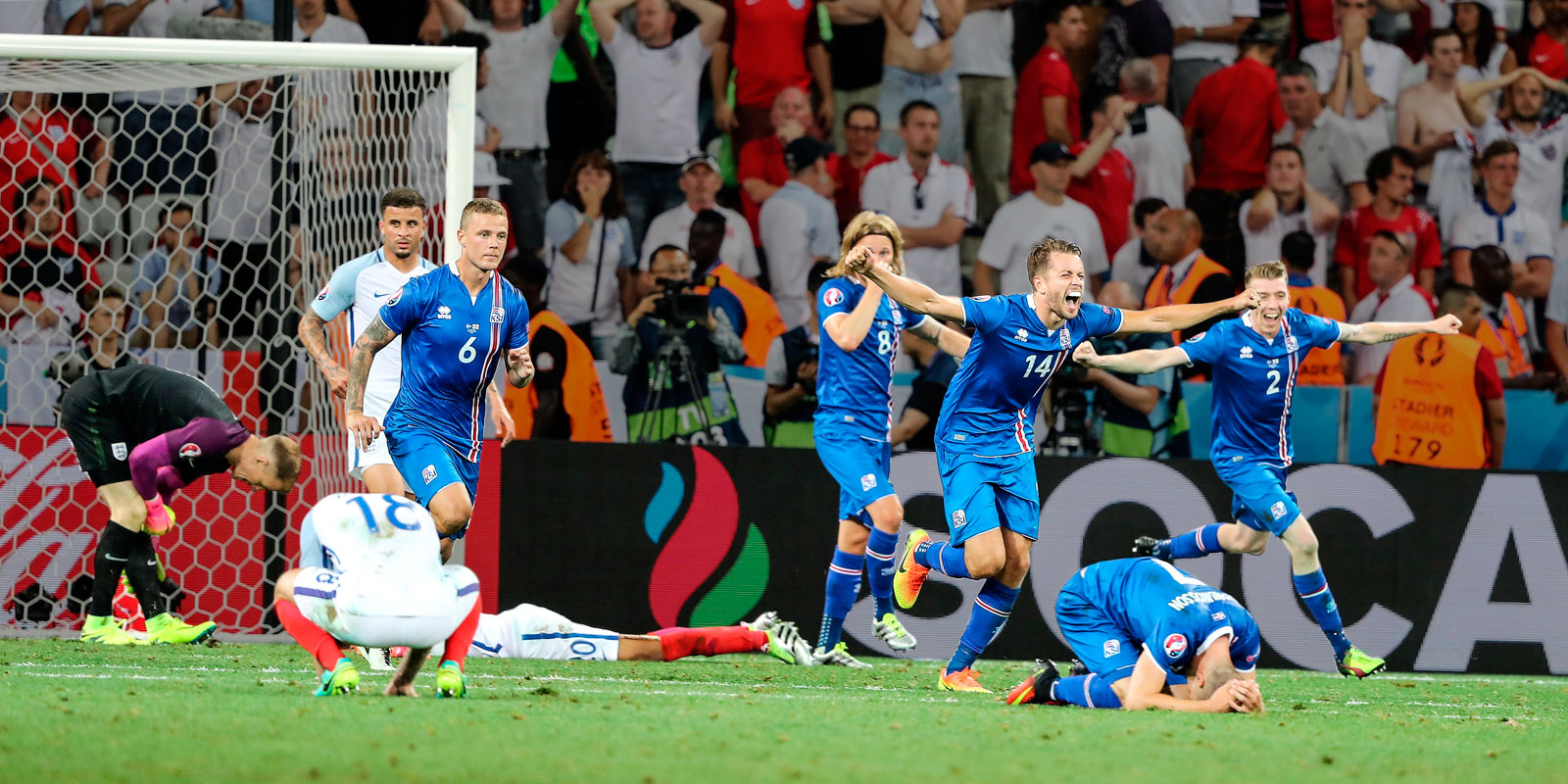 Iceland beats England in the Euro 2016 knockout stage