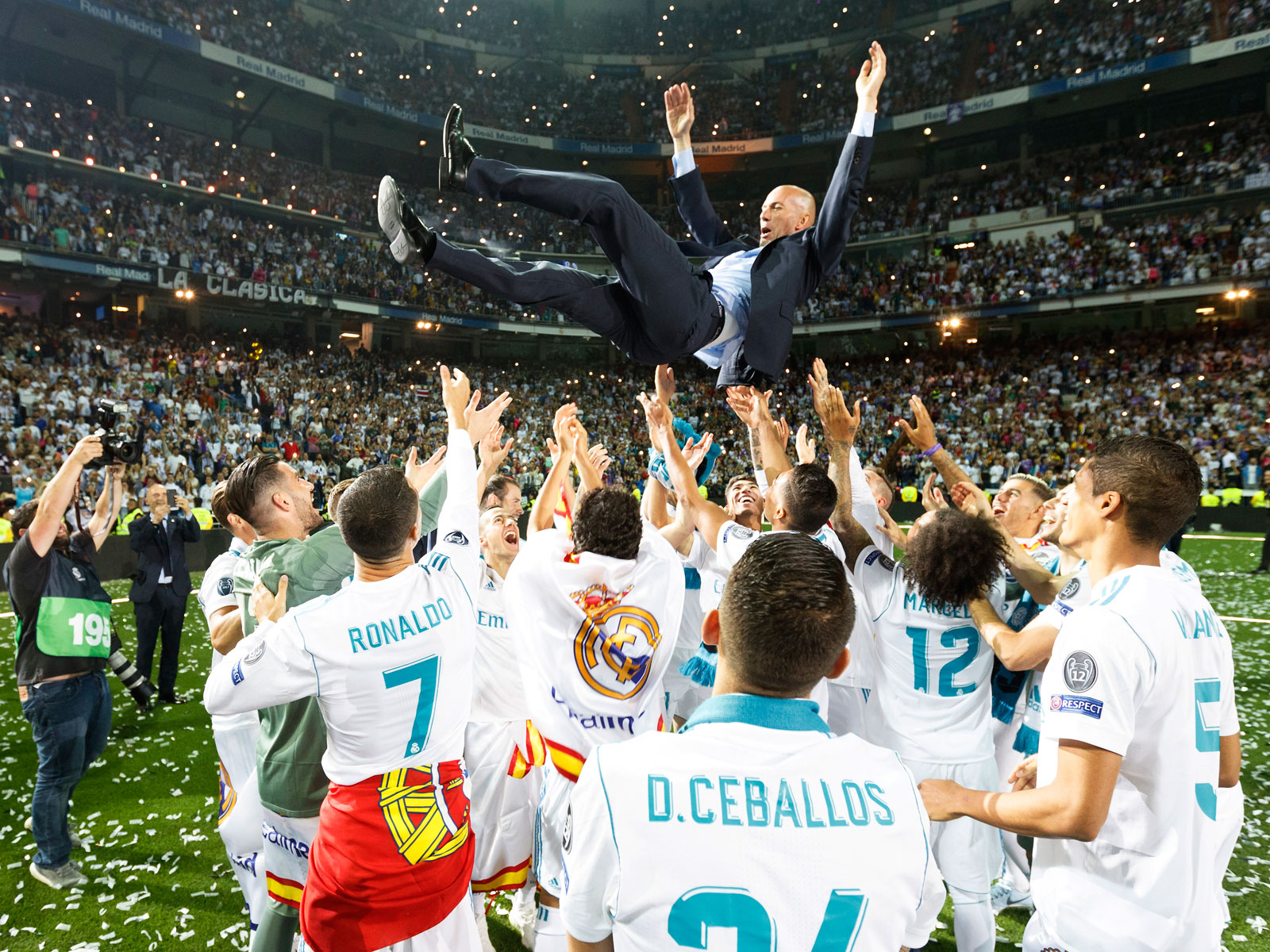 Real Madrid beat Liverpool to win its third straight Champions League title