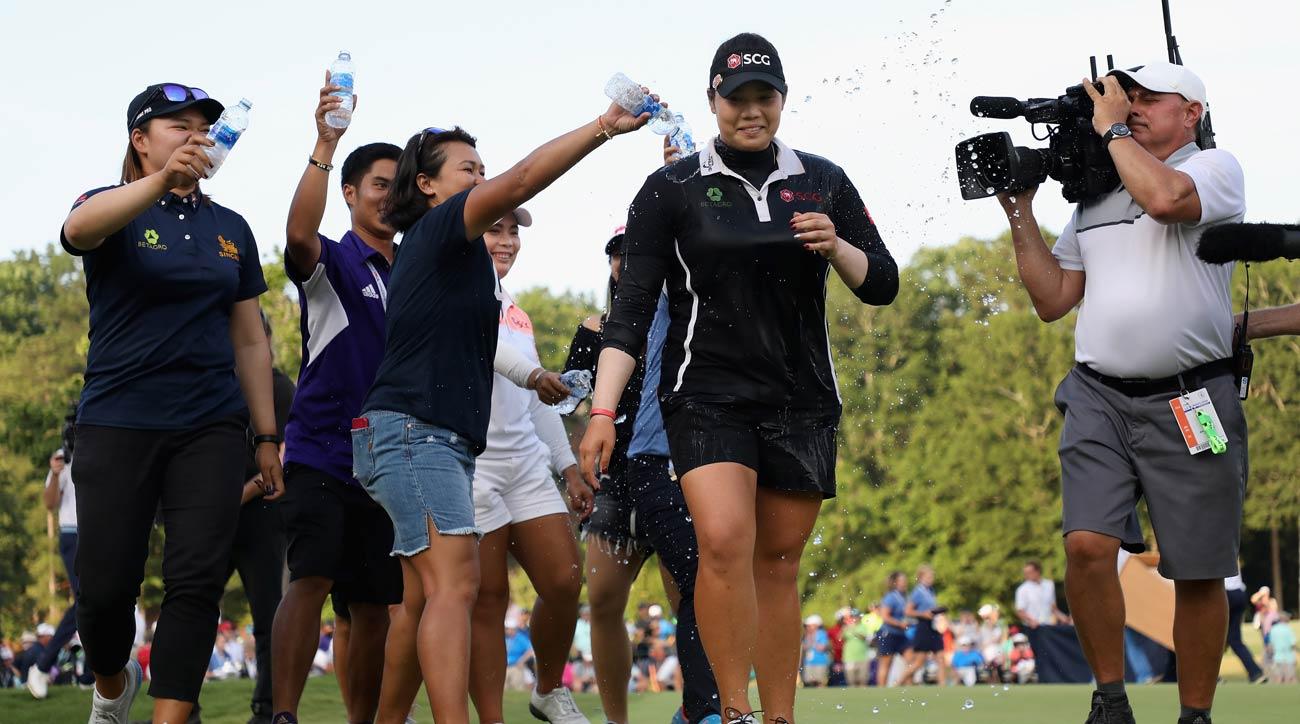 Ariya Jutanugarn at the U.S. Women's Open
