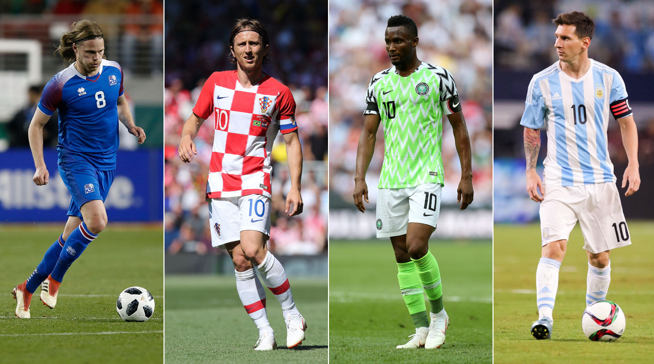 Iceland, Croatia, Nigeria and Argentina play in the World Cup's Group D