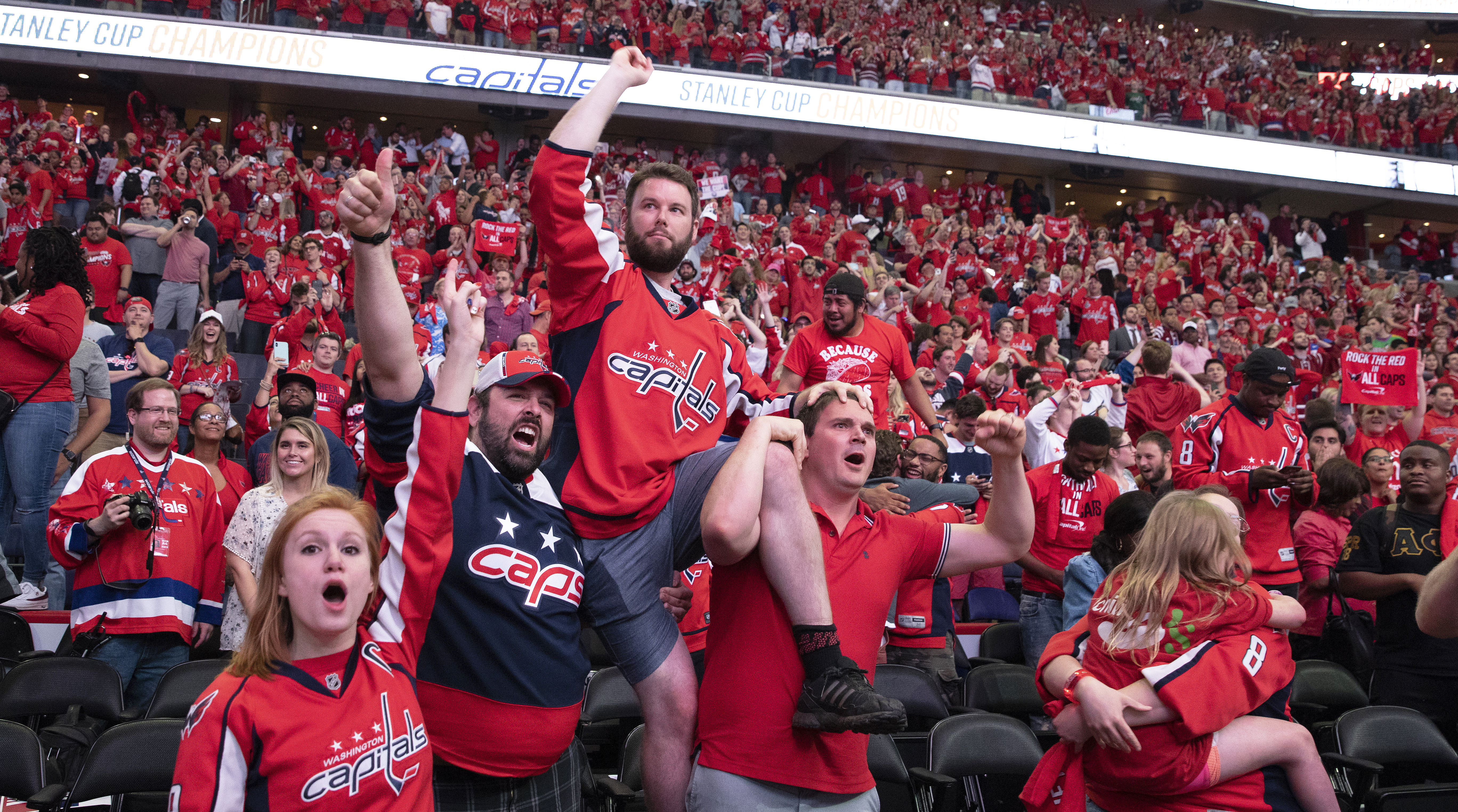 Washington Capitals' Fans Gather In D.C. To Watch Game 5 Of Stanley Cup Finals