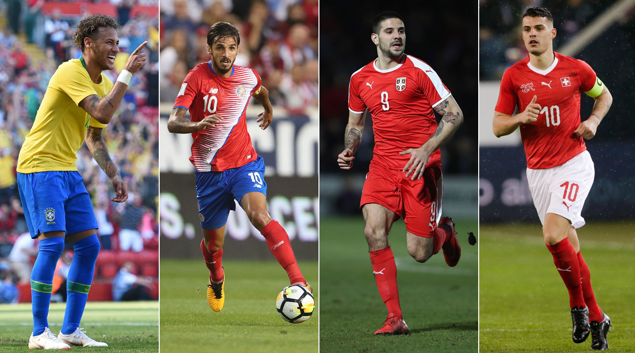 Brazil, Serbia, Switzerland and Costa Rica play in World Cup Group E