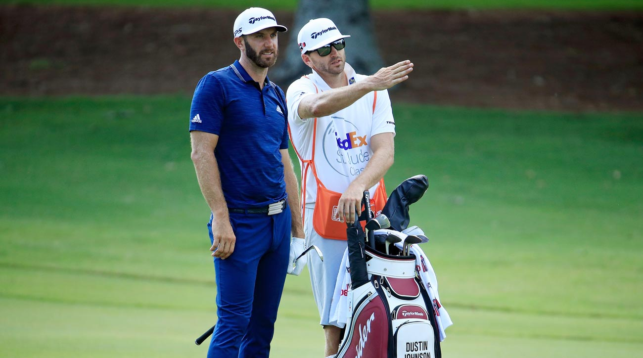 Dustin Johnson during the FedEx St. Jude Classic