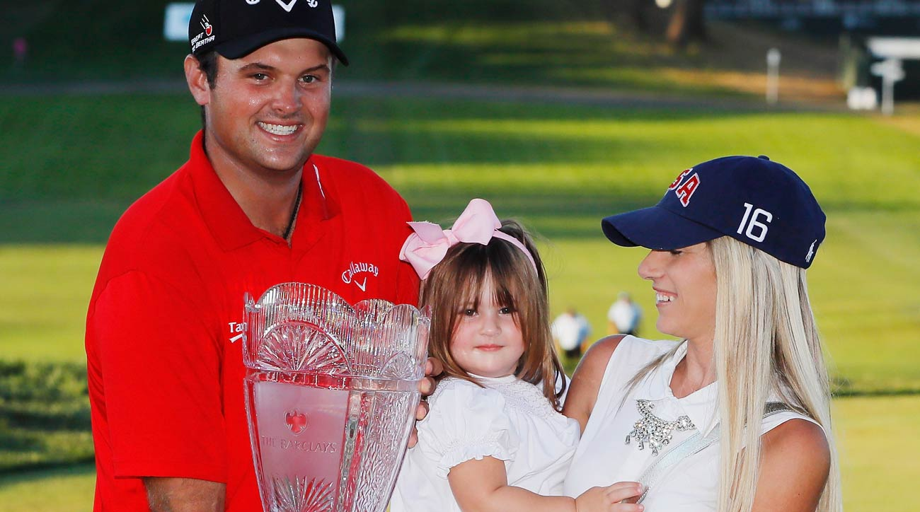 Patrick Reed with daughter and wife at US Open