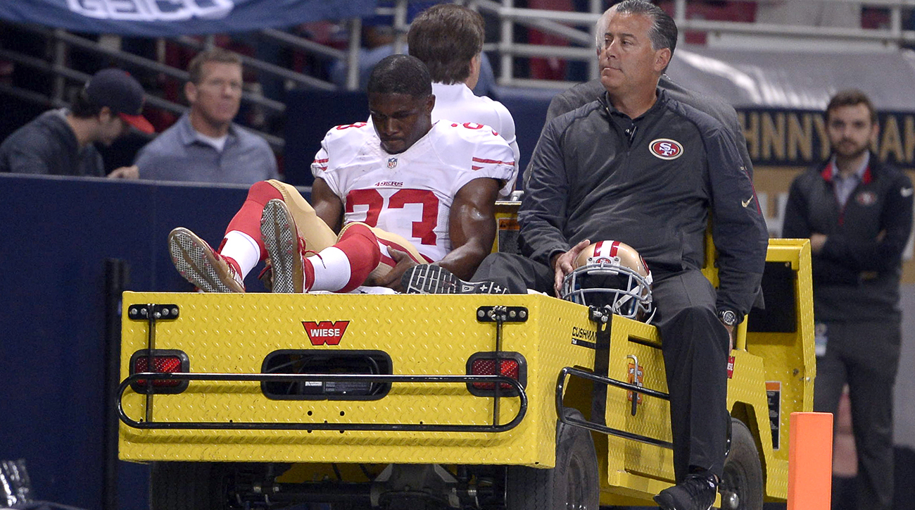 Reggie Bush carted off after suffering injury at Edward Jones Dome