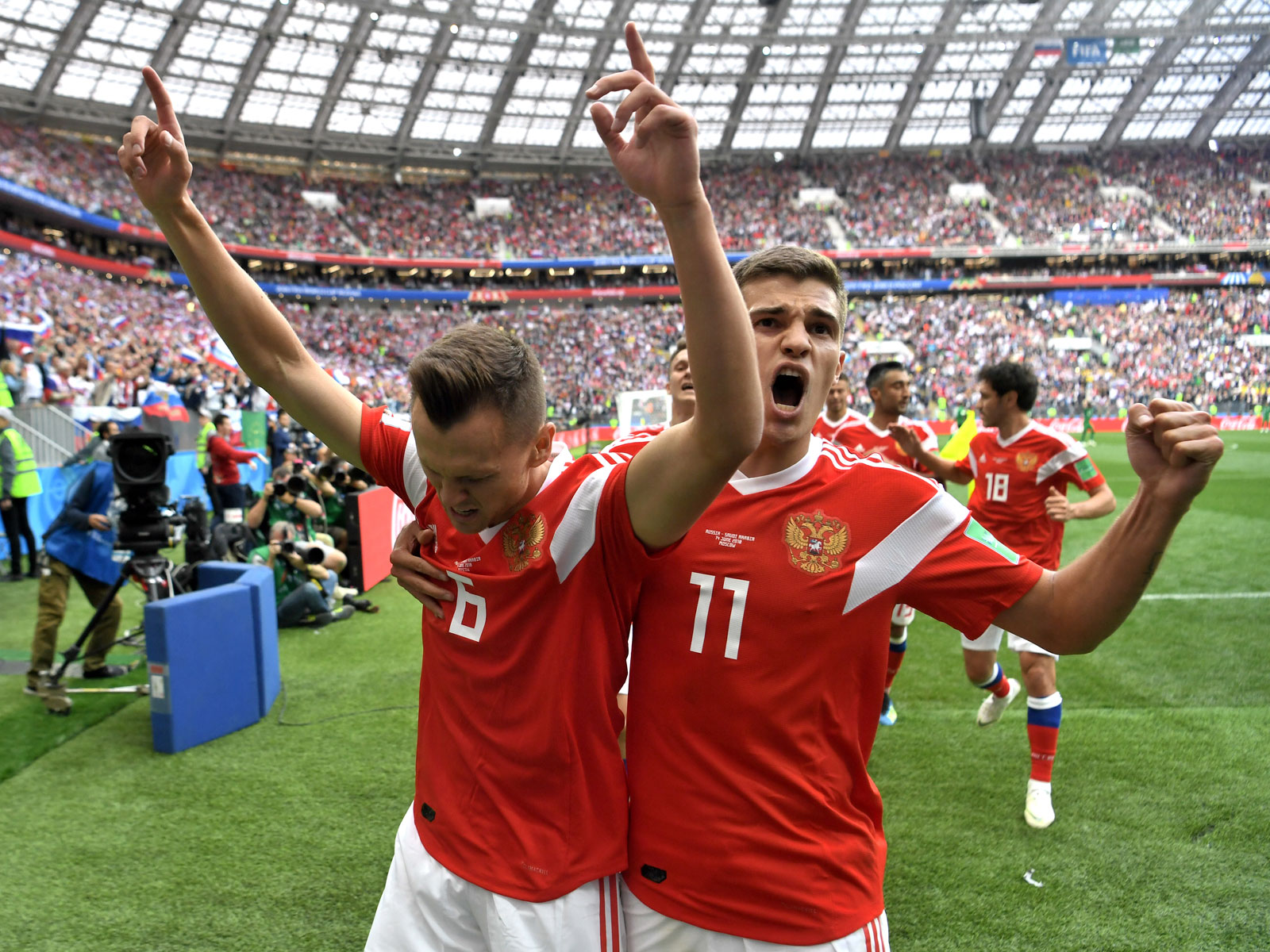 Denis Cheryshev stars for Russia in its World Cup-opening win over Saudi Arabia