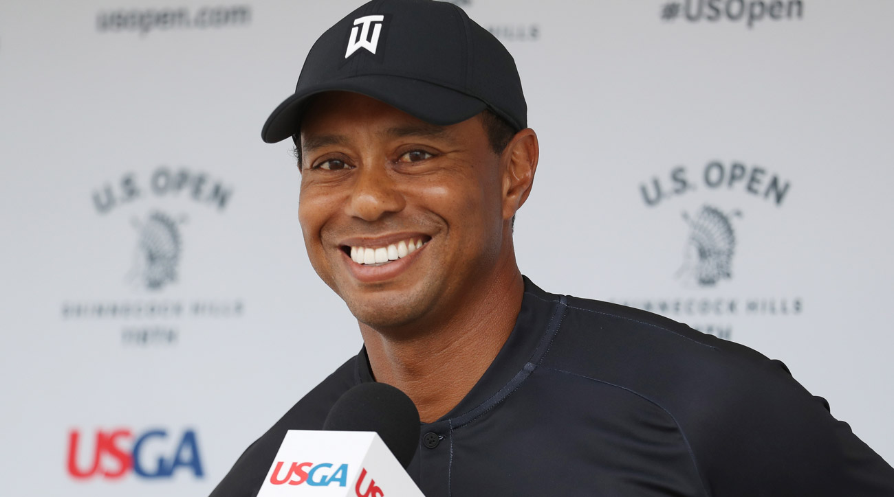 Tiger Woods speaks after second round of 2018 U.S. Open