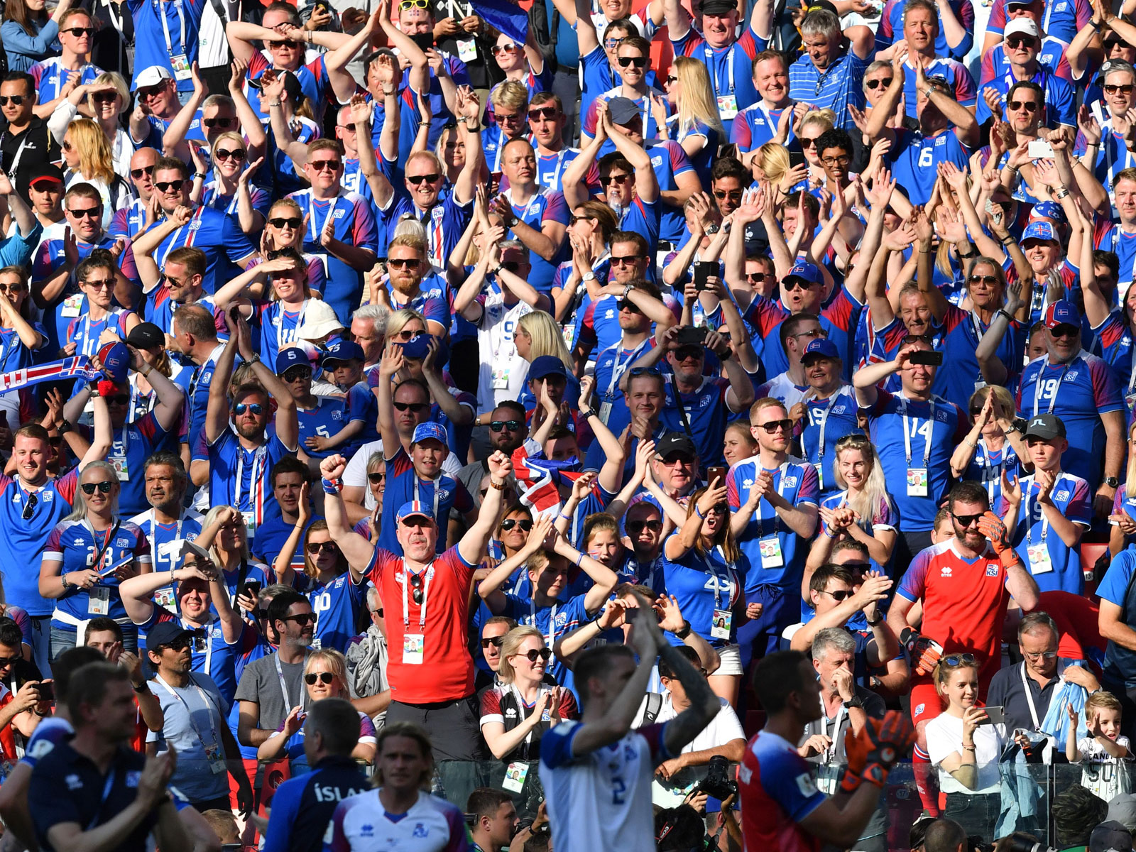 Iceland fans turn out for their World Cup opener vs. Argentina