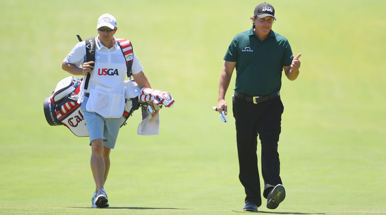 Phil Mickelson during third round of 2018 U.S. Open