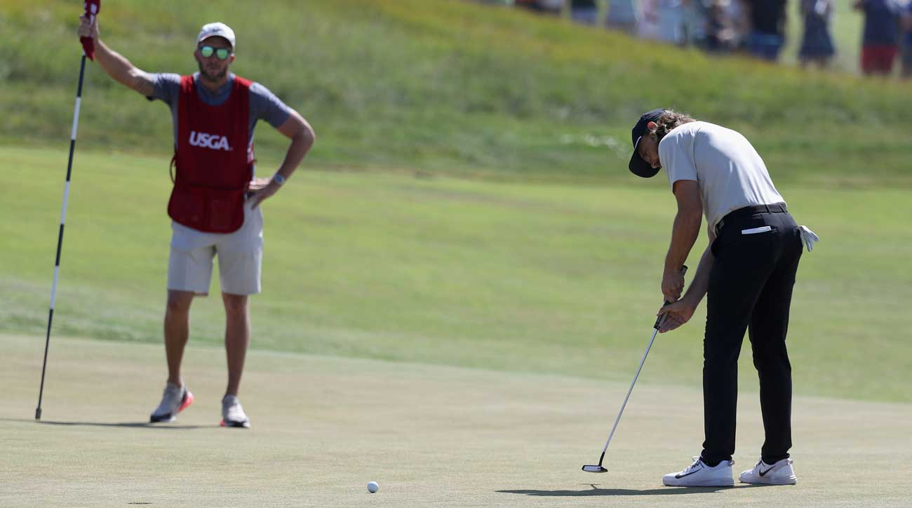Fleetwood's putt at No. 18 missed ever so slightly.