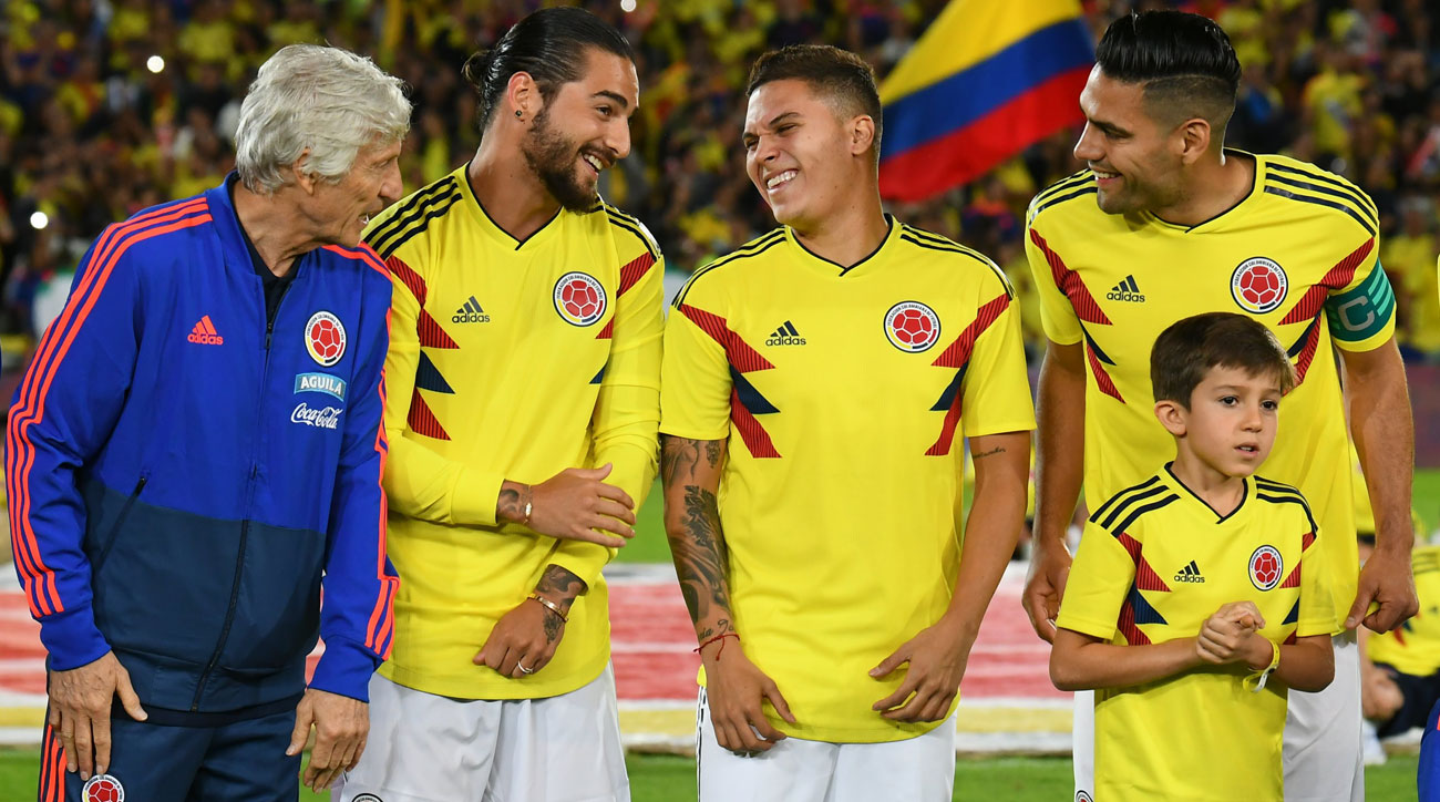 Colombia plays Japan in the World Cup