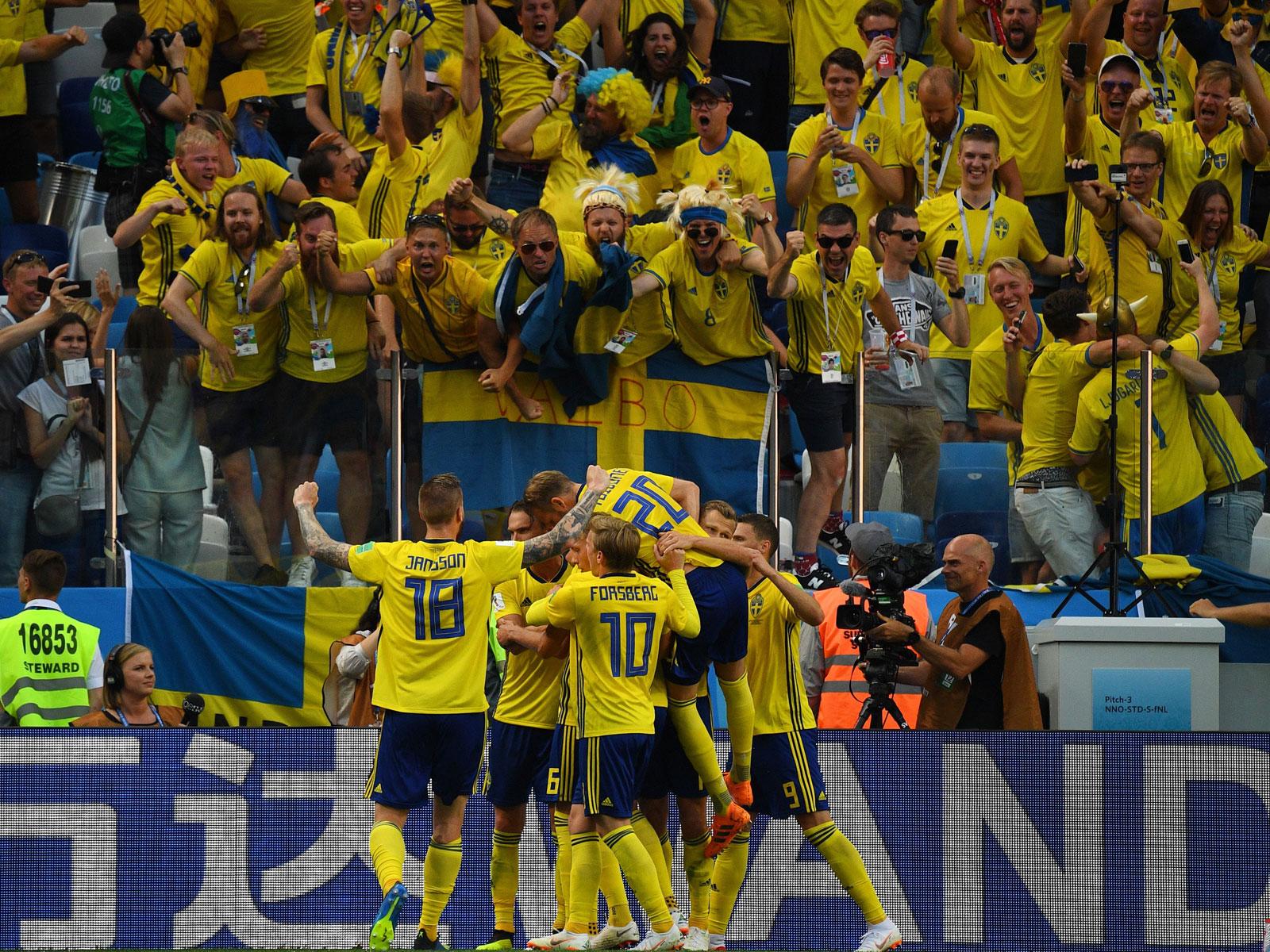 Sweden beats South Korea at the World Cup
