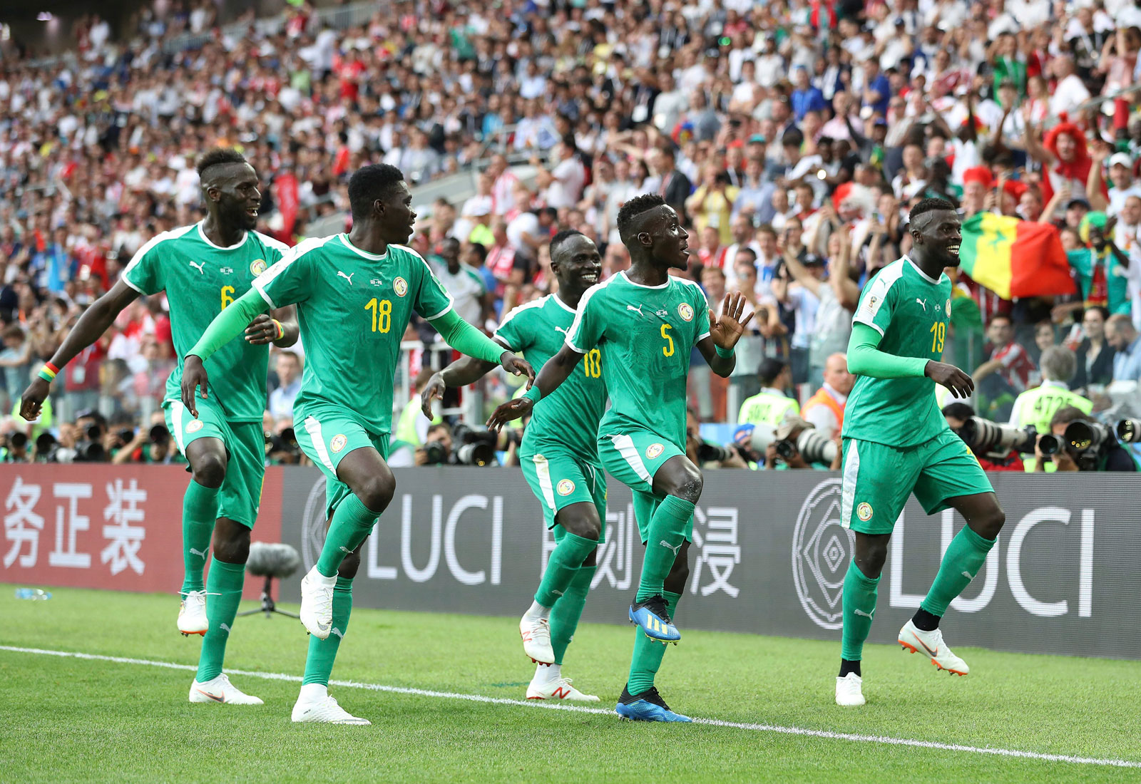 Senegal beats Poland at the World Cup for its first win on the stage since 2002
