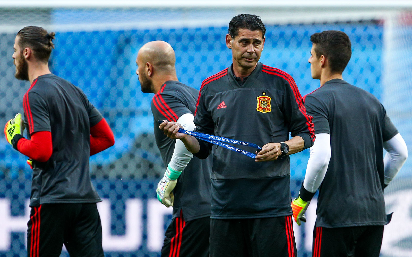 Fernando Hierro has taken over as Spain manager for the World Cup