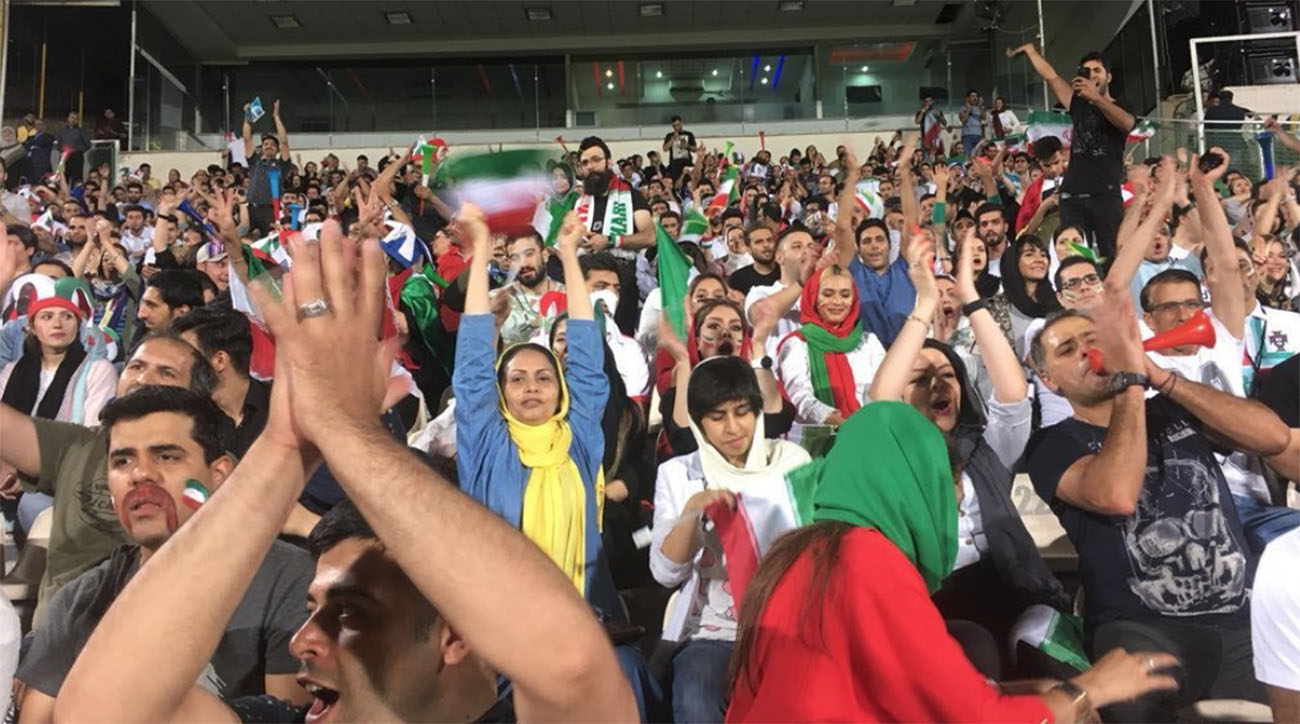 Iranian women allowed in stadium