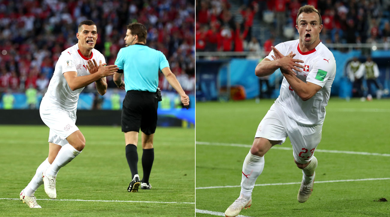 Xhaka, Shaqiri score for Switzerland, use Albania symbol ...