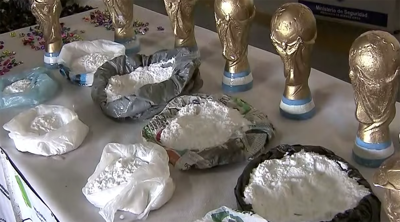 argentina, Cocaine World Cup Trophy Replicas, world cup, 2018 world cup, russia world cup