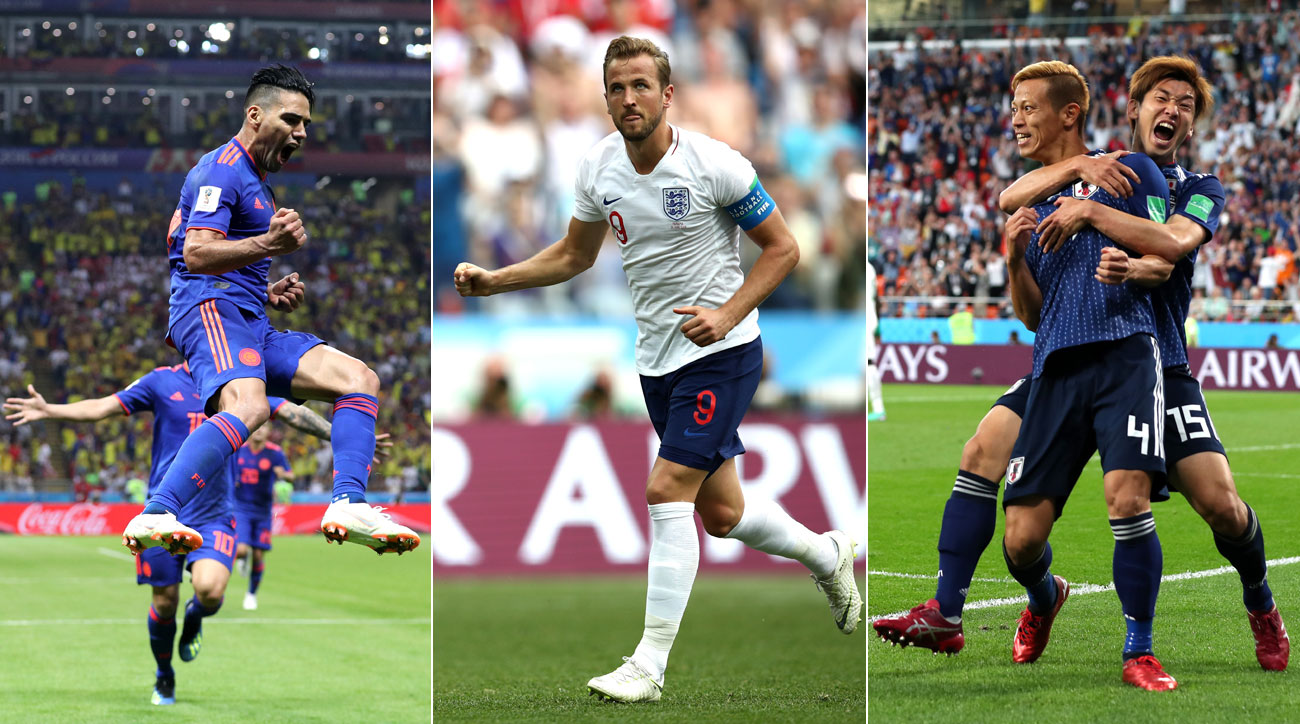 Colombia, England and Japan all showed out at the World Cup