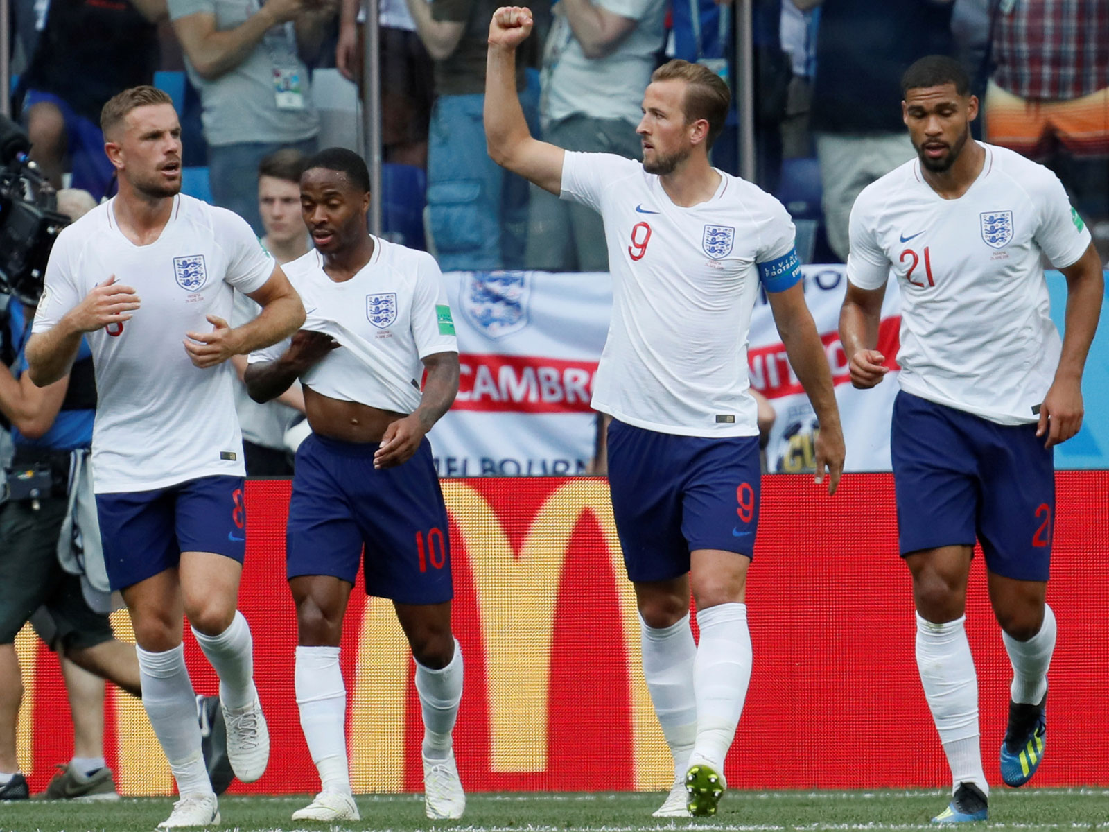 England routs Panama in the World Cup