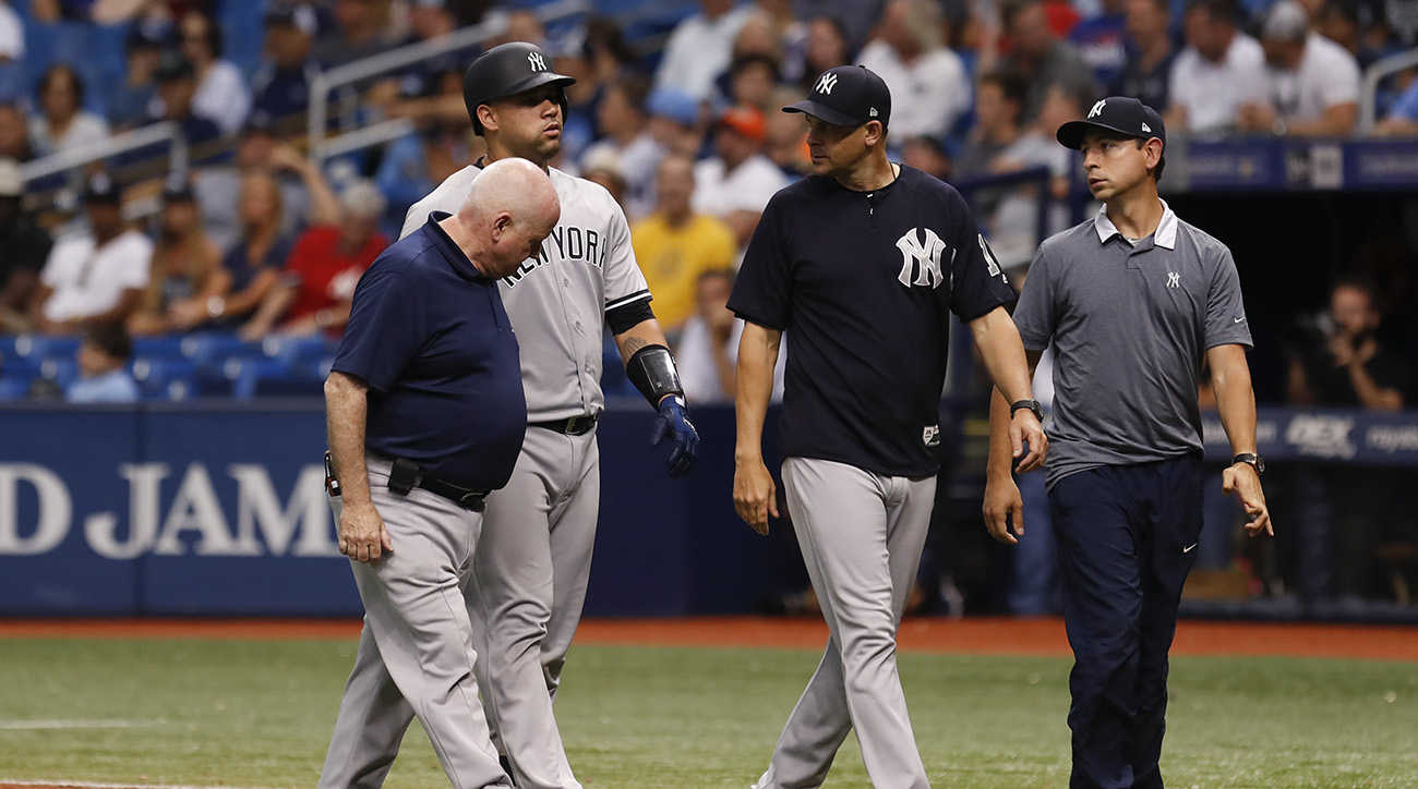 Yankees' Gary Sanchez Likely to DL After Pulling Up on Grounder | Sports Illustrated