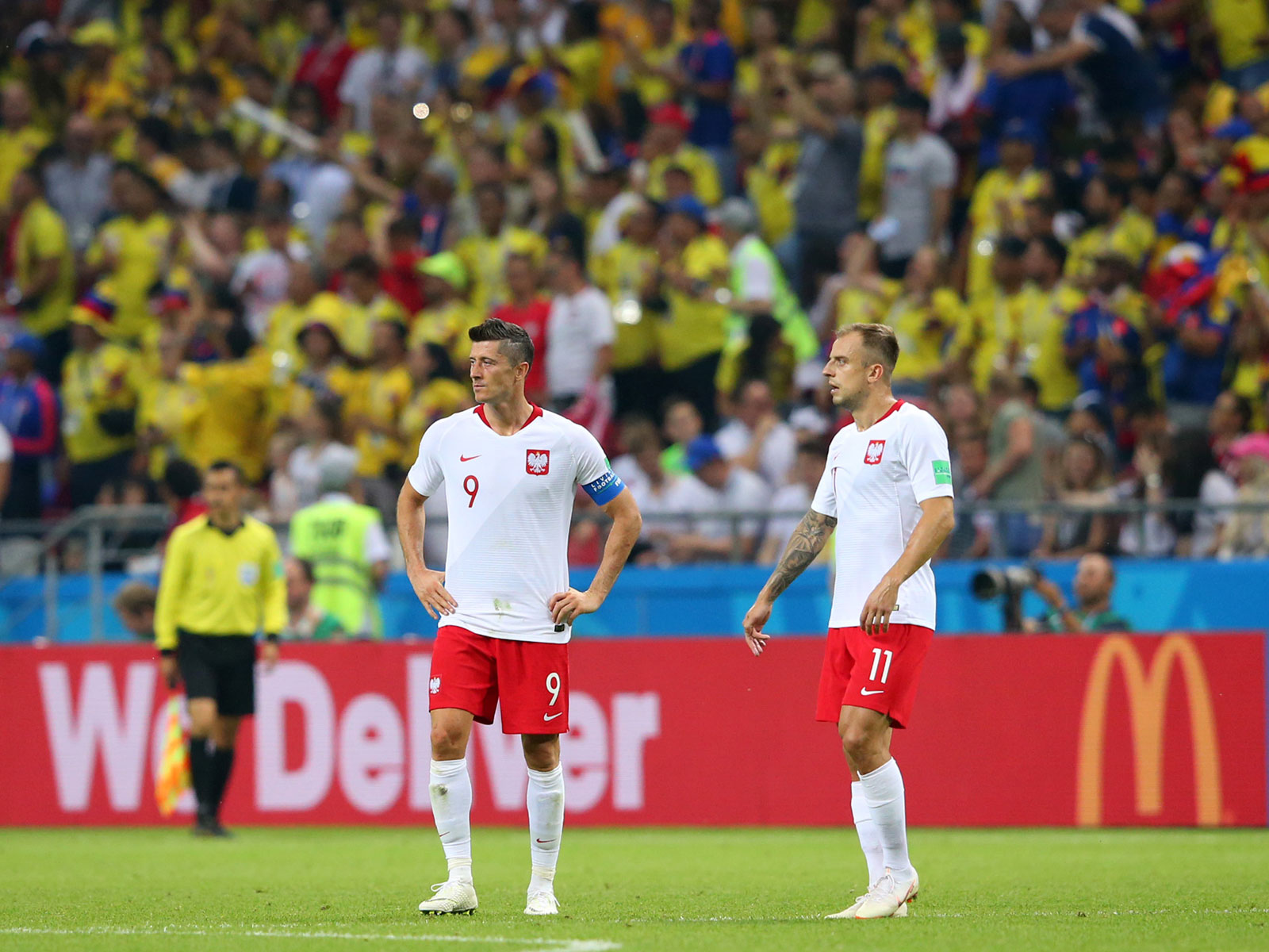 Robert Lewandowski and Poland are out of the World Cup