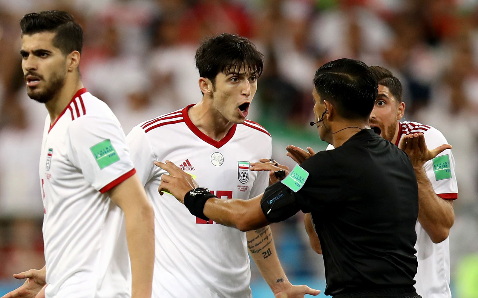 Iran players were livid with the referee in their draw vs. Portugal