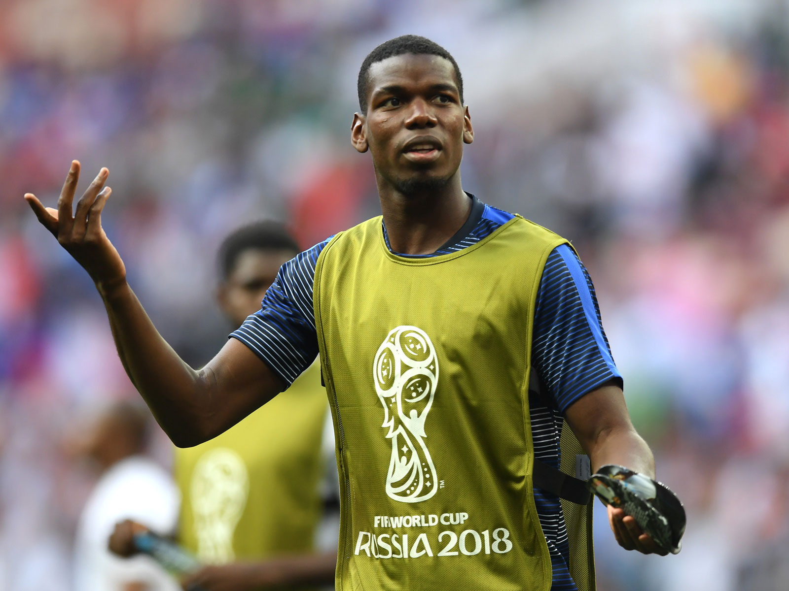 Paul Pogba was rested for France against Denmark