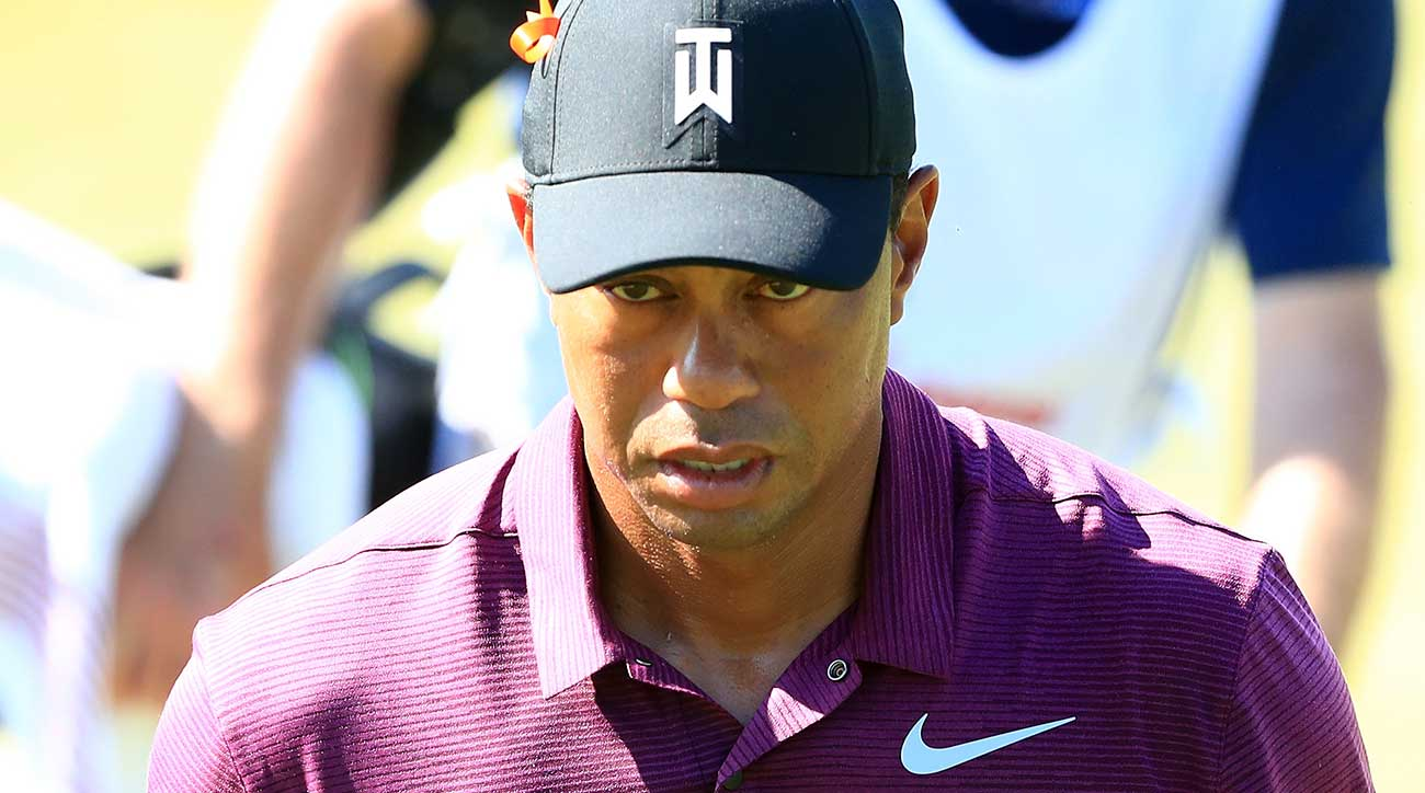 Tiger Woods made three birdies and no bogeys on his second nine.