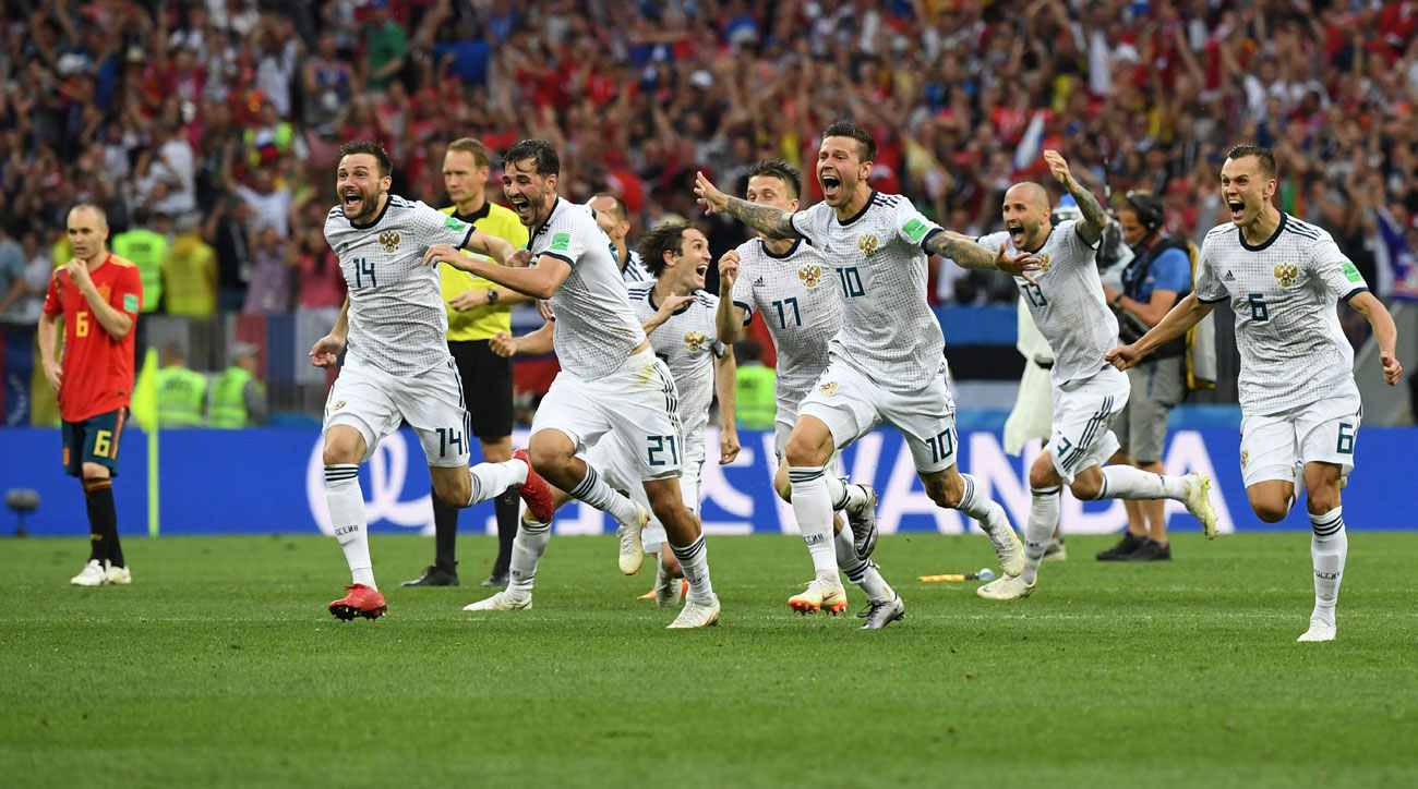 Russia ousts Spain from the World Cup in penalty kicks