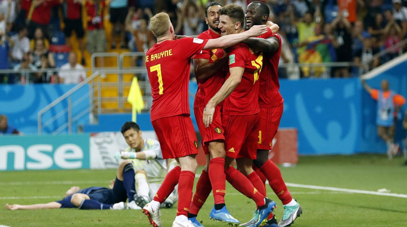 Belgium beats Japan on a last-second goal by Nacer Chadli