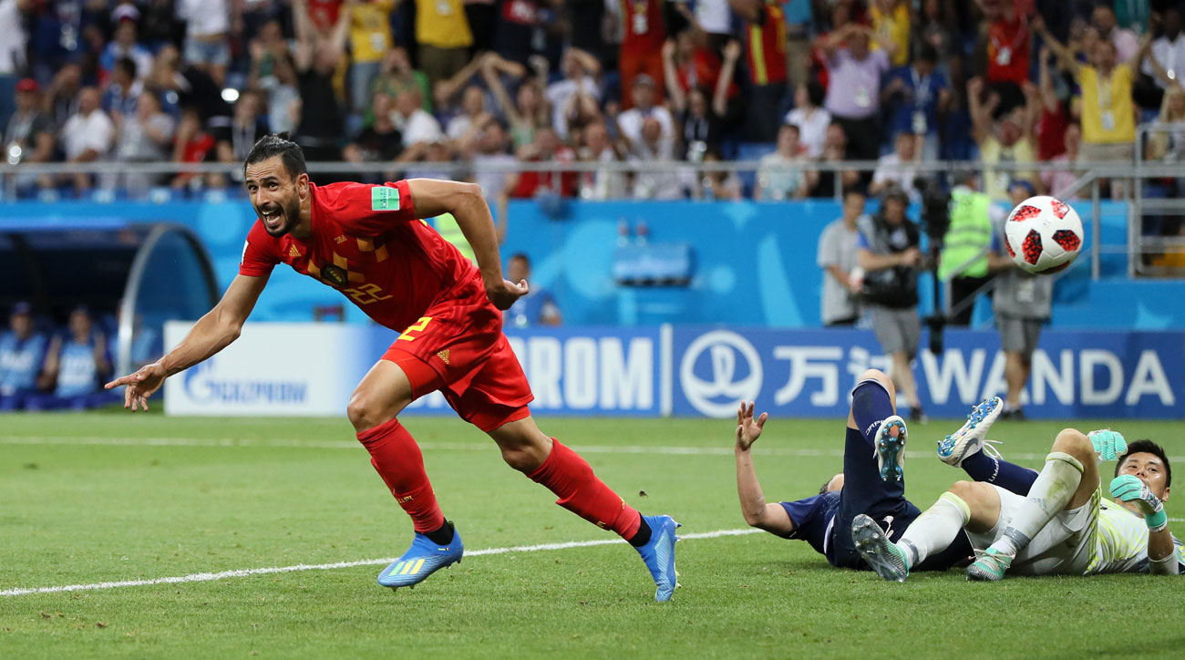 Nacer Chadli scores at the death for Belgium vs. Japan