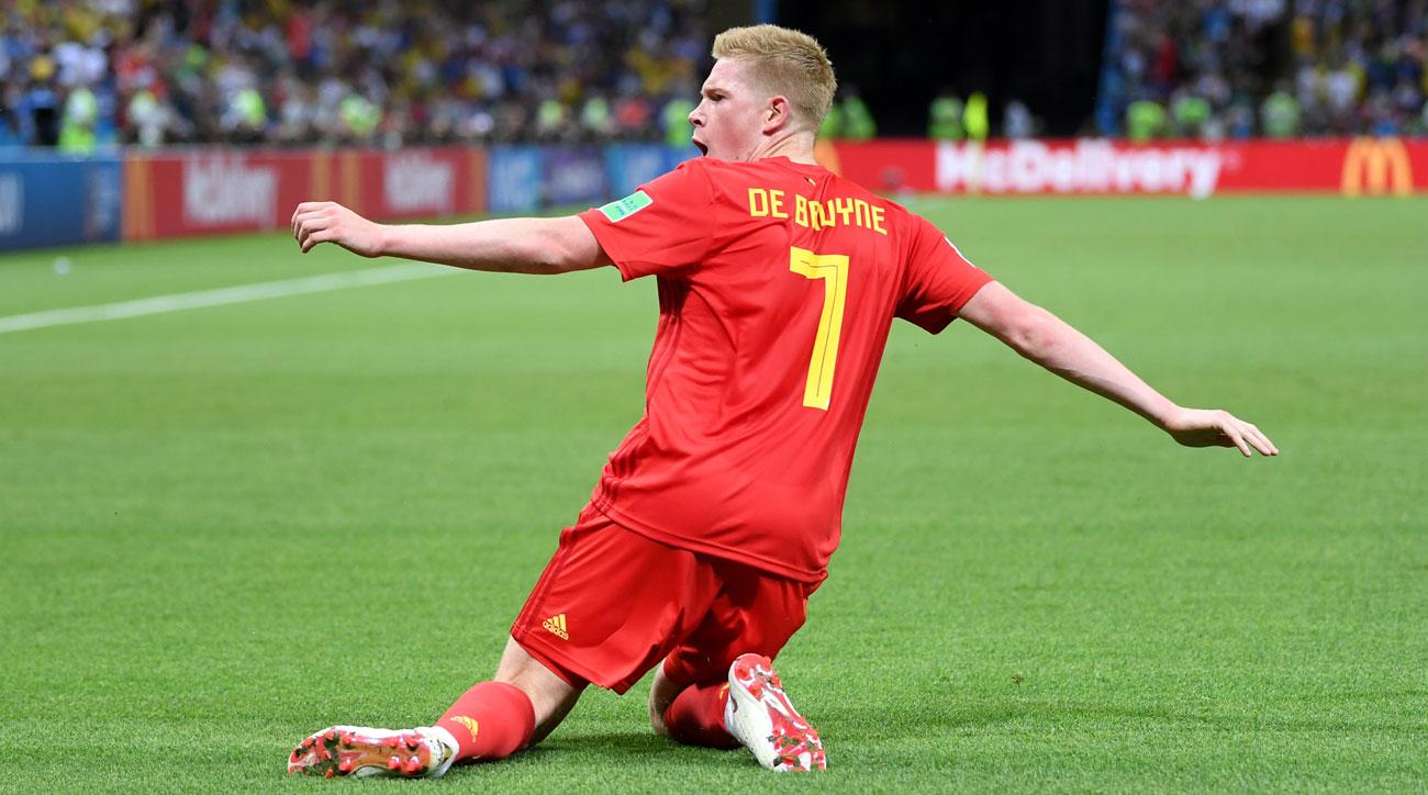 Kevin De Bruyne scores for Belgium vs. Brazil in the World Cup quarterfinals