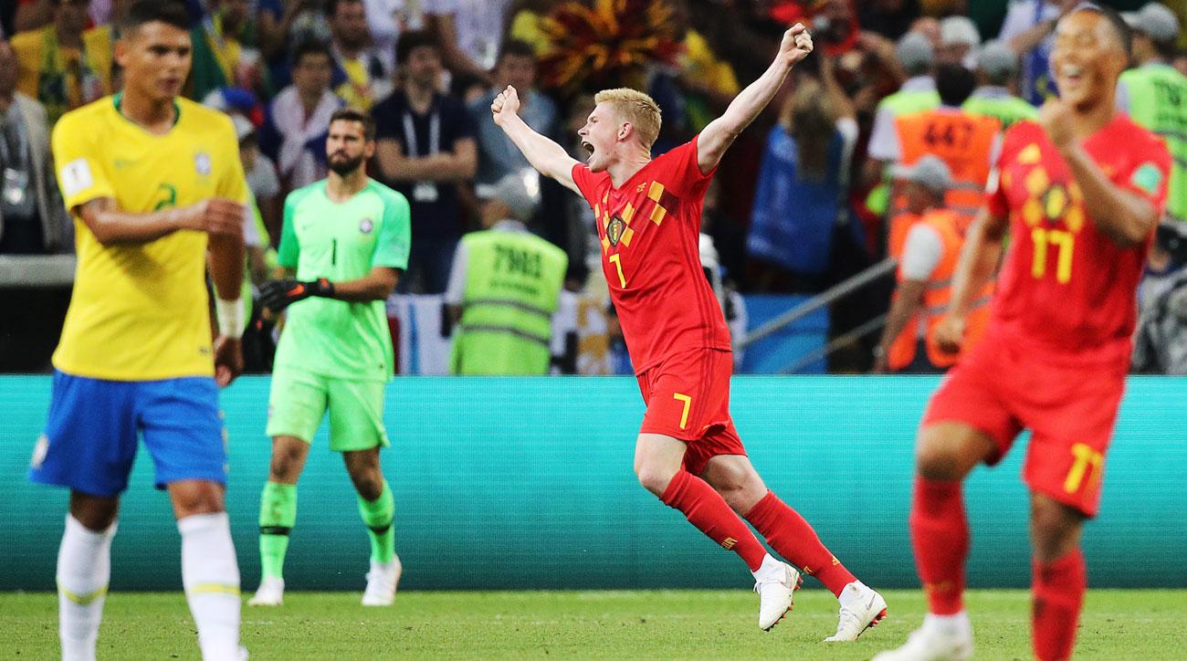 Belgium defeats Brazil in the World Cup quarterfinals