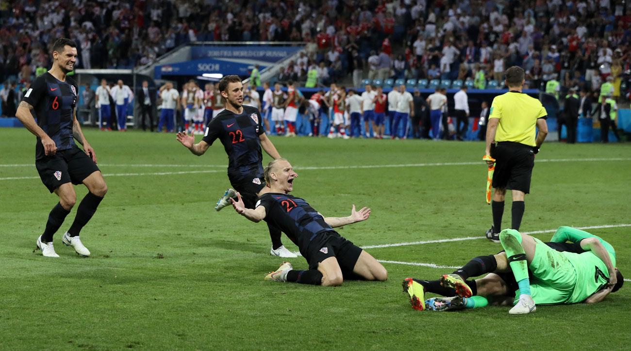 Croatia beats Russia in penalty kicks in the World Cup quarterfinals