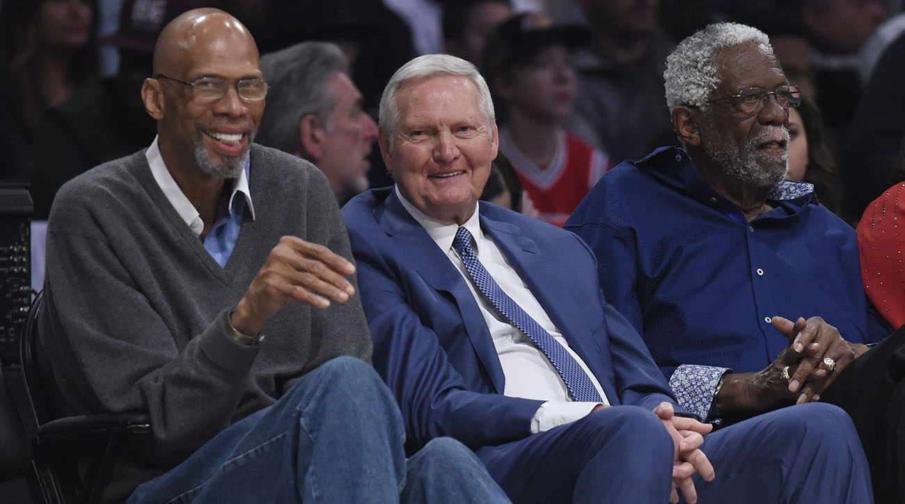 Kareem Abdul-Jabbar,Jerry West,Bill Russell