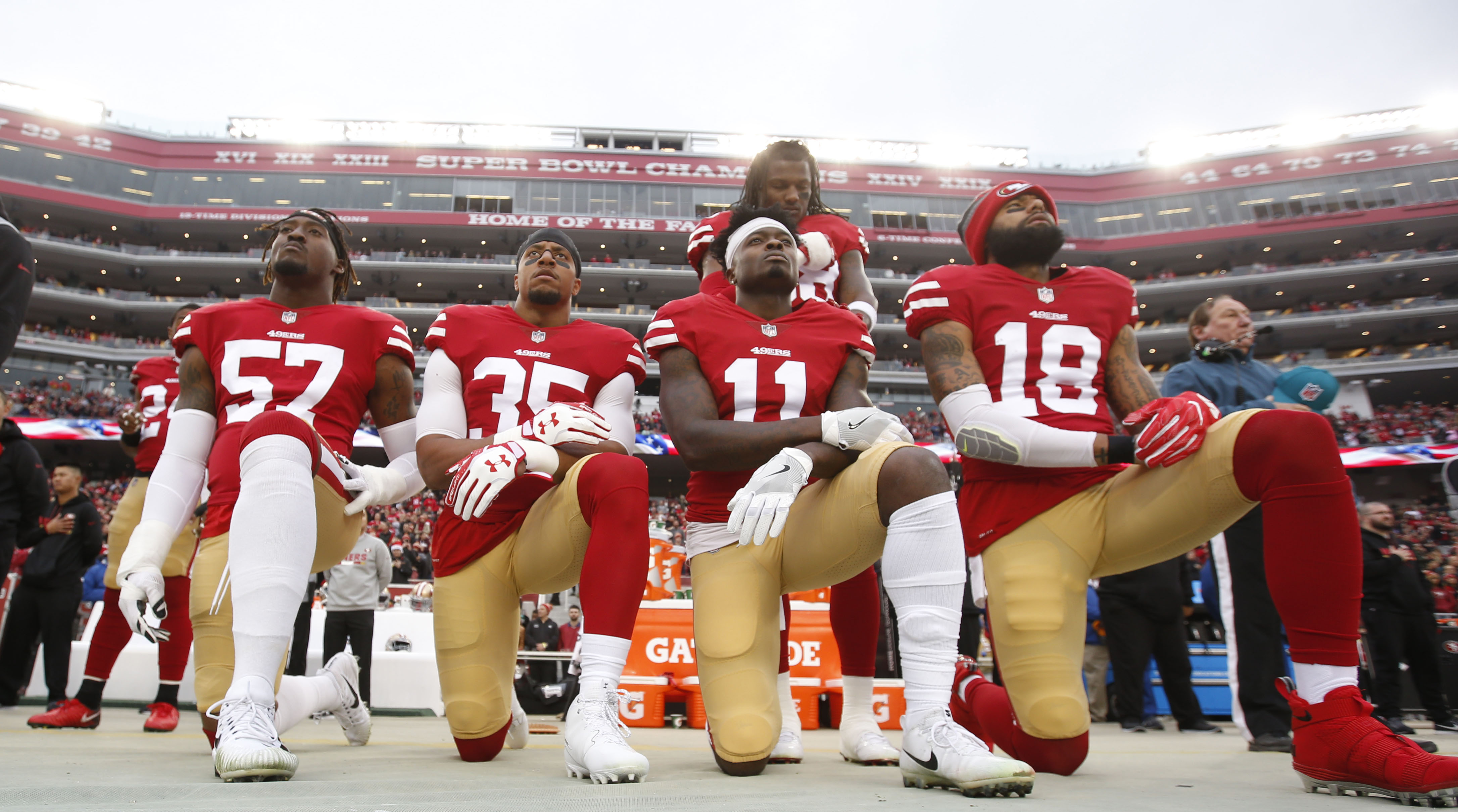 NFLPA files grievance over anthem policy