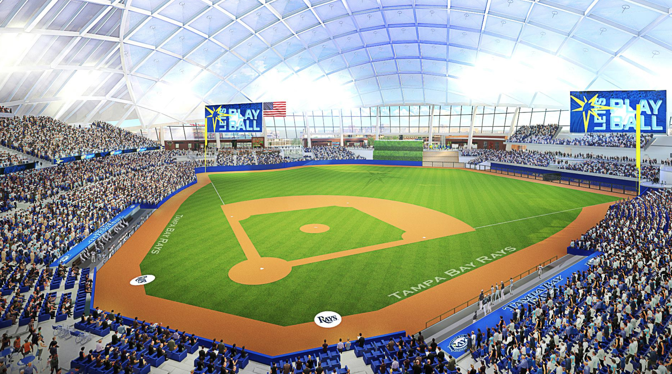 tampa bay rays new stadium plans unveiled photos si com