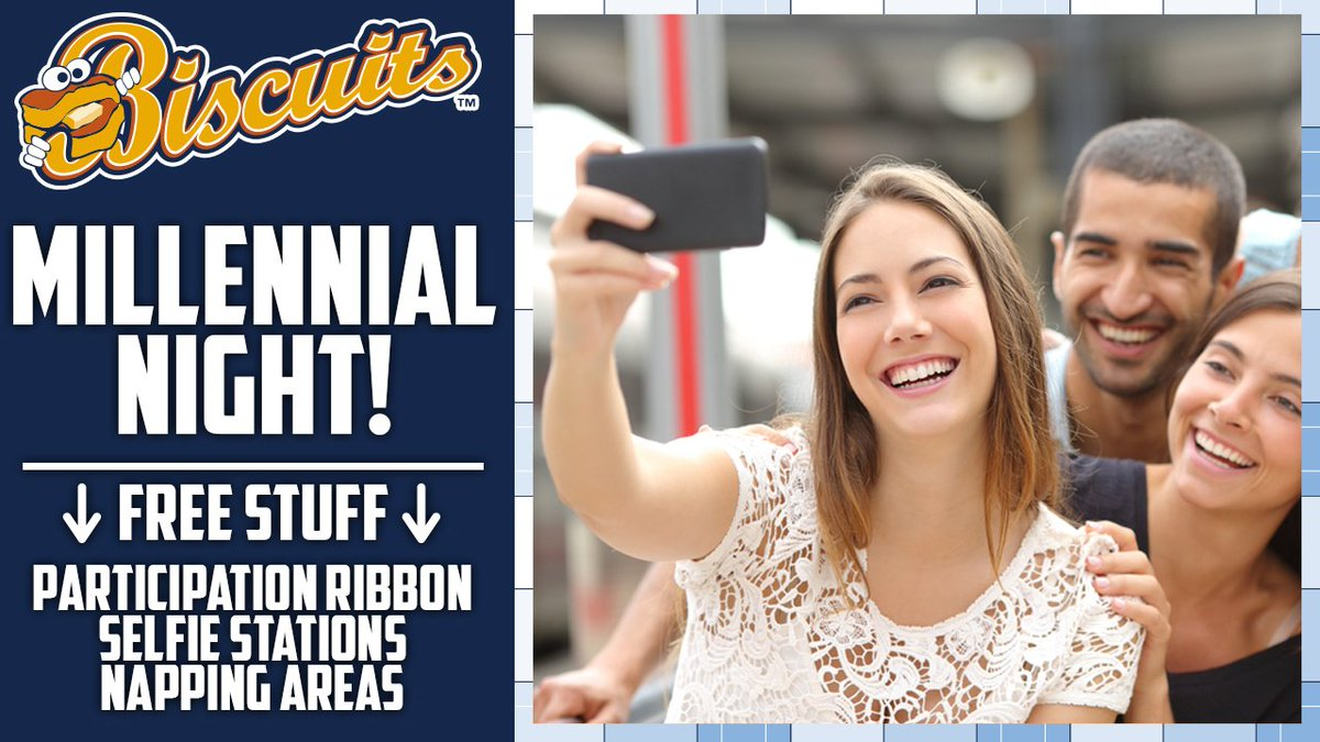 Millennial Night at Montgomery Biscuits game vs Braves