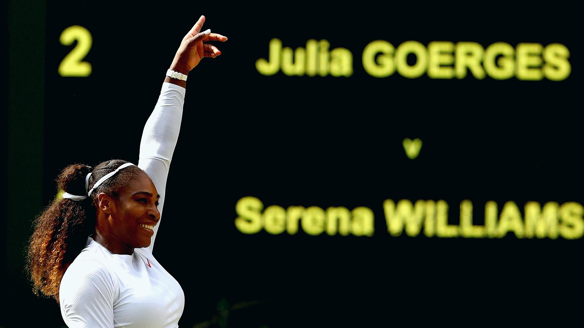 serena williams julia goerges wimbledon semifinals