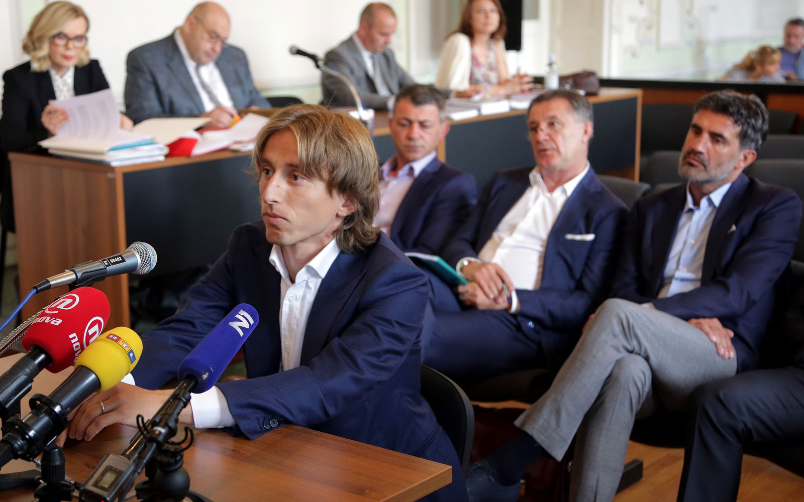 Luka Modric testifies in a Croatian football corruption case