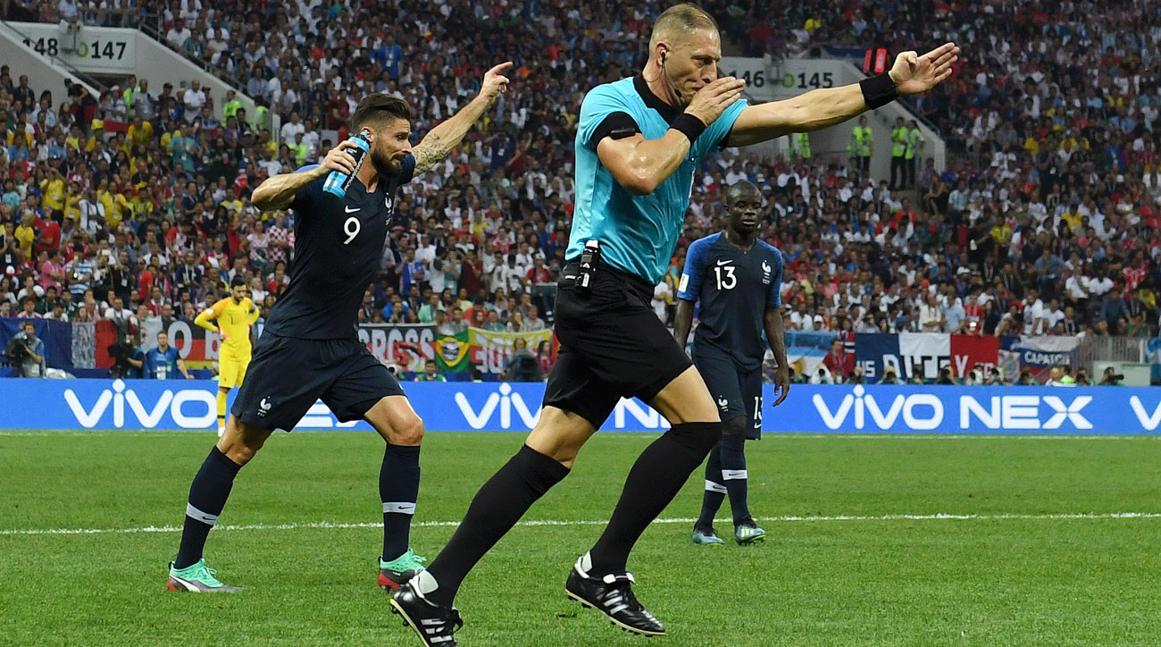 France benefited from a VAR call at the World Cup final