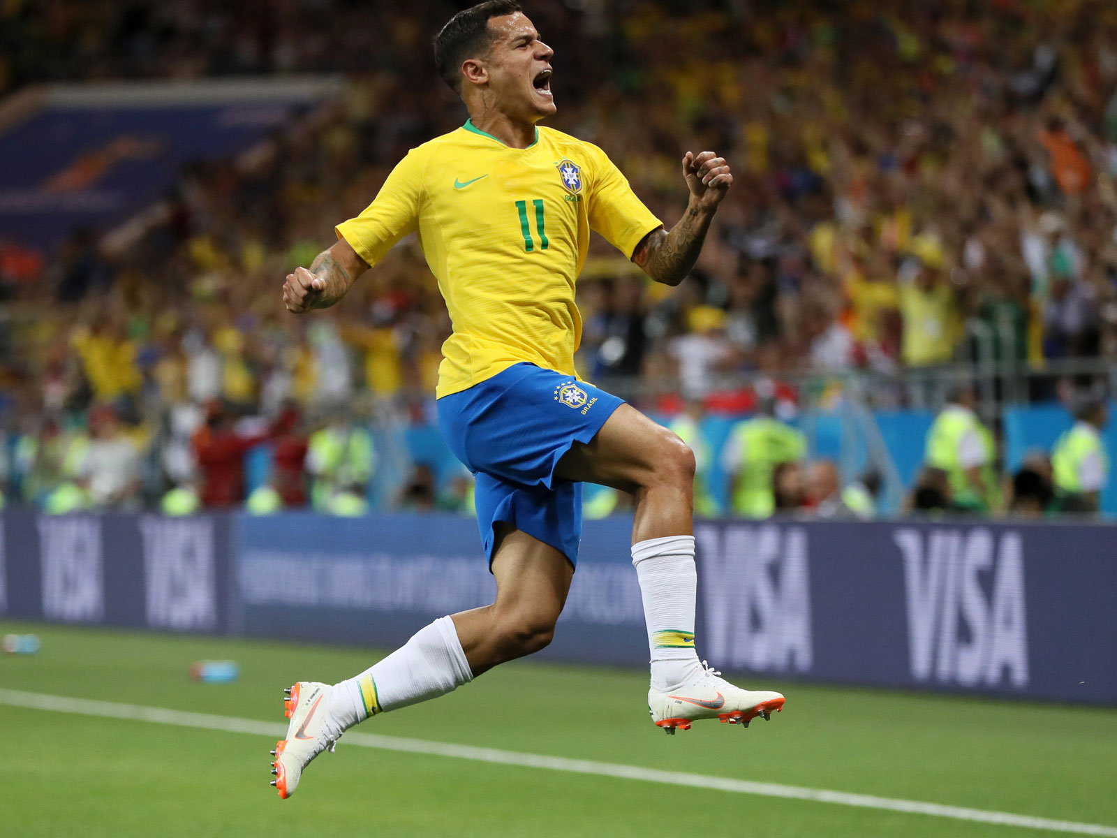 Philippe Coutinho starred for Brazil at the World Cup